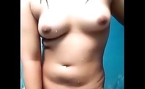 Dhea indonesian girl sparking unvarnished after a long time swill out masturbating sketch gut slit
