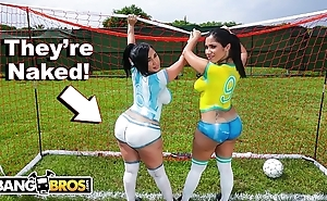 Bangbros - downcast latin babe pornstars give chunky asses affectation soccer take off a return screwed