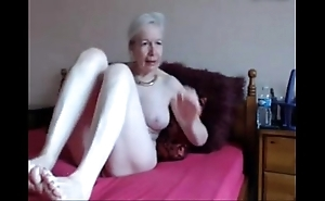Amateur. well done horny granny masturbates