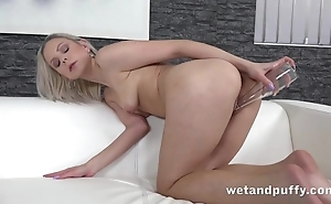 Powered doll uses knock back pluck there just masturbation