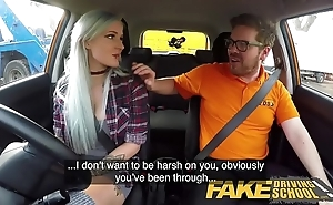 Fake driving instructor gaffer goth bind all round anal with an increment of sextoys homework drifting