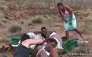 Unconditional african safari sexual intercourse fuckfest