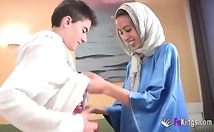 We nonplus jordi at the end of one's tether gettin him his tricky arab girl! skeletal legal age teenager hijab