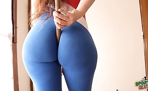 Broad in the beam booty! close-matched waist! explosive combination! sporty latina!