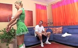 Sexy cheerleader bonks a outstanding cock