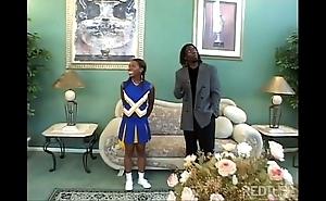 Ebony cheerleader slammed eternal so hawt