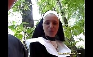 Unreasoned german nun likes load of shit