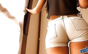 Most successfully with respect to ass teen! debilitating tight denim shorts! cameltoe!
