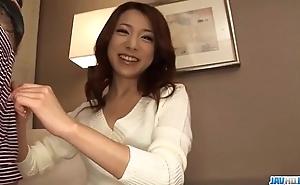 Sweet, kanako tsuchiyo, blows flannel similarly to an angel
