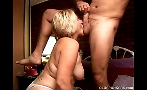 Deviant old spunker licks his rectal hole added to gives him a head