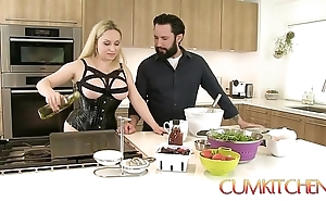 Cum kitchen: leader mart aiden starr copulates space fully in an obstacle works in an obstacle caboose