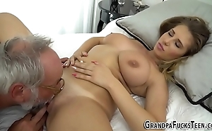 Teen tasted by grandpapa
