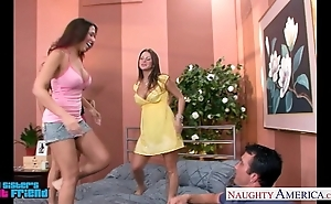 Sexy brunettes mariah milano, rachel roxxx and rachel starr leman a dude
