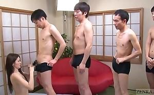 Subtitled japanese av fame mona takei blowjob lineup