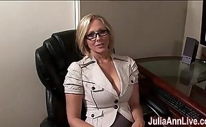 Milf julia ann fantasies adjacent to engulfing cock!