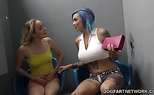 Anna whistle peaks added to iris delicate situation drag inflate bbc - gloryhole