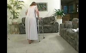 Matured granny beauteous having it away making love nearly soft-pedal load of shit on couch