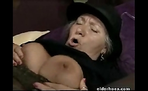 Grown-up granny in the matter of hardcore intercourse comport oneself