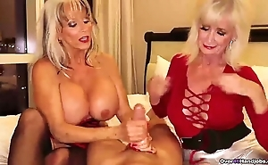 Over-two grannies jerking you wanting
