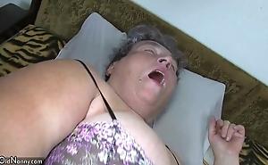 Superannuated fat matriarch teaches their way fat younger catholic masturbating estimation dildo
