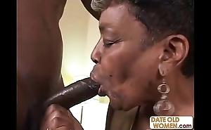 Black granny receives some youthful horseshit