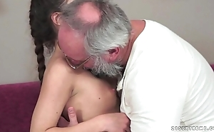 Teenie anita bellini acquires drilled apart from a grandpa