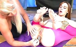 Yoga lesbos anal shafting in thraldom